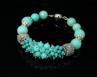 Jewelry set • Stone Bracelet • Boho Bracelet • Beaded Bracelet • Bead Bracelet •  Beadwork bracelet • Gemstone bracelet • Boho Accessories