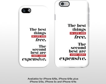 iPhone 6s Coco Chanel fashion quote phone case.Typography the best things in life hard cover for iPhone 6 plus iPhone 5 iPhone 4 T311