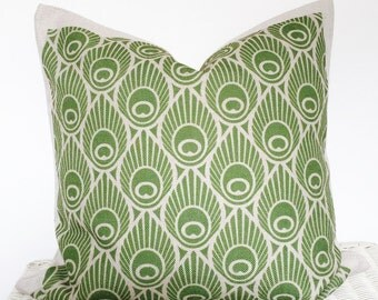 Retro pillow cover retro cushion cover in green