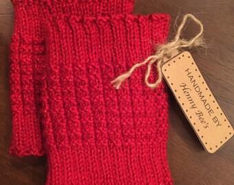 Knit Holiday Boot Cuffs