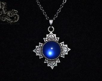 """Necklace """"Sanctuary"""" - royal blue version"""