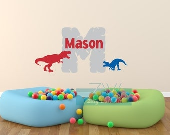 Dinosaur Decal   Vinyl Decal   Name Wall Decal   Kids Wall Decal   Monogram Decal  Boys Wall Decal   Room Decor   Removable decal