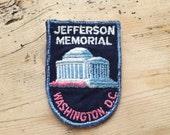 Vintage Jefferson Memorial, Washington DC, USA Patch