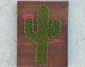 Made to Order String Art Cactus Sign