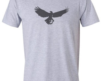 Bird t shirt- graphic tees, nature tshirt, eagle tshirt, mens shirts, bird design, gifts for men, mens clothing, ethical clothing, uk seller