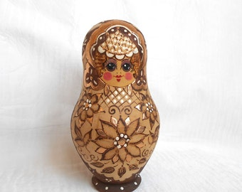 MATRIOSHKA. Vintage Russian doll.