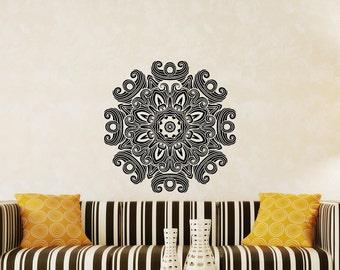 Wall Decals Mandala Om Sign Decal Yoga Sticker Vinyl Decals Wall Decor Murals Z368