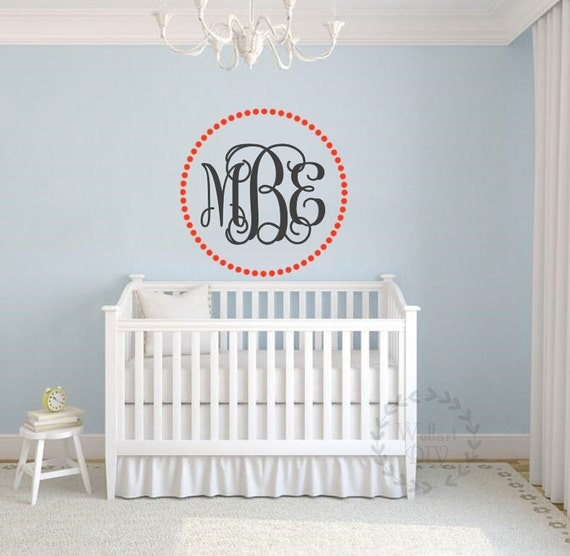 monogram wall decals monogram wall sticker nursery wall decal monogram wall decals personalise your rooms and walls