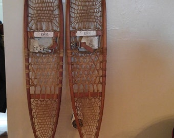 Vintage Wood Gaines Snow Shoes!