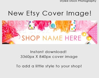Etsy Cover Photo / Etsy Cover Image / Premade Etsy Banner / Premade Cover Photo / Shop Banner / Cover Image / Stock Photo / Style-113