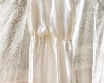 Silk satin short simple wedding dress