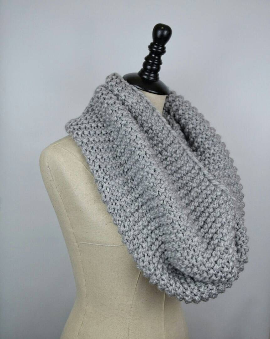 Knitting Cowl Scarf : Chunky knit scarf knitted cowl womens