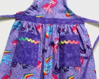 Girls Toddler Apron My Little Pony Apron with Pockets (3-4)