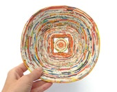 Coiled Paper Eco-Friendly Recycled Orange Handmade Colorful