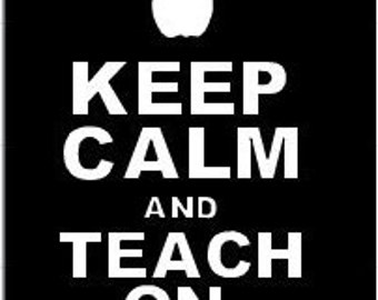 Keep Calm and Teach On Custom Coozies