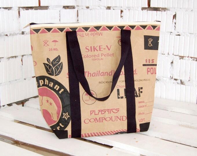 Reusable grocery bag, Eco friendly handbag, Unique tote bag, Market tote bag, Teacher bag, Reused tote, Casual shopper, Market, Shopping