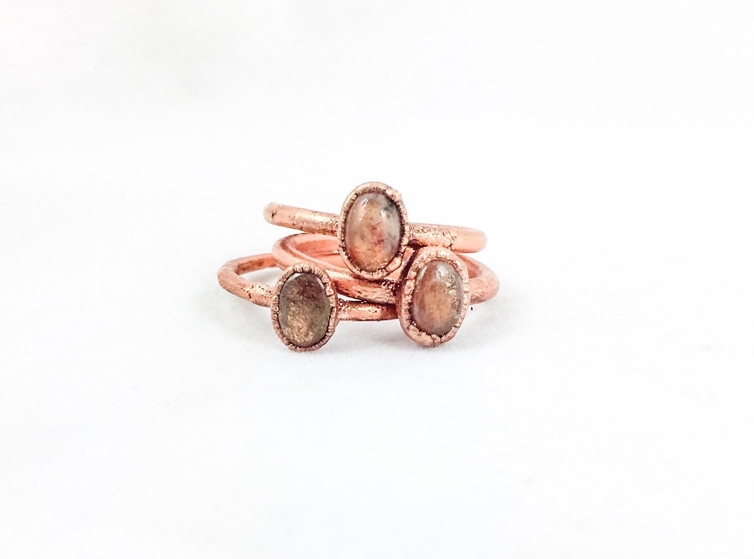 sunstone ring electroformed jewelry electroforming