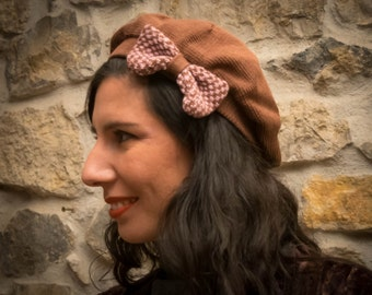 Vintage Tricot beret, tricot hat, knitted beret hat, elegant boho chic beret, lovely knitted beret