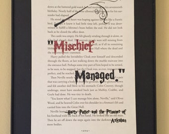 Mischief Managed  - Harry Potter Page Art