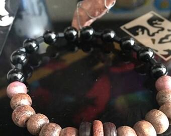 Black & Maroon Bracelet