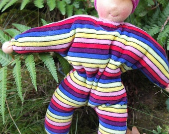 Instant pdf download waldorf first doll tutorial small baby doll gnome simple sewing pattern and tutorial