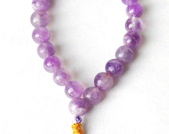 Natural Amethyst Crystal Beads Bracelet
