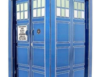 Doctor Who Tardis 3D Laser Cut Model - Blue- Fascinations Metal Earth