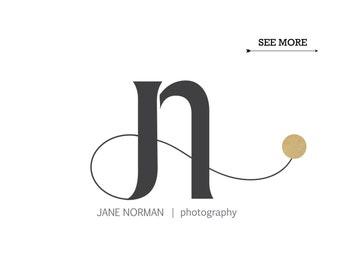 Custom initials logo / Photography logo / Minimalist logo / Signature logo / Modern logo / FREE watermark