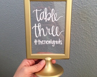Gold/White Table Numbers