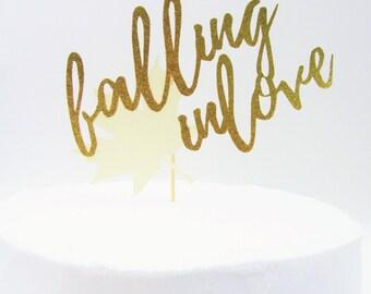 Falling In Love Cake Topper, Fall In Love Cake Topper, Falling In Love Bridal Shower, Falling In Love Baby Shower, Falling In Love With Baby