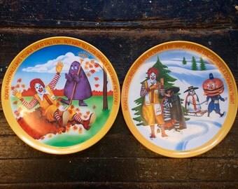 Vintage Ronald McDonald Plate Set