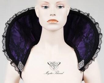 Purple-black neck collar with filigree stampings-Dark queen collar-Black neck piece-costume piece- vampire collar-costume accessories