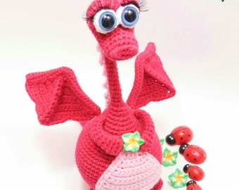 Amigurumi crochet pattern, crochet dragon pattern, amigurumi PDF pattern, dragon pattern, Instant download