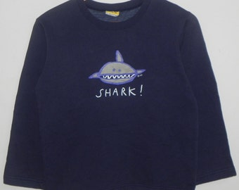 90s//Kent Done//Australian Pop Art//Spell Out Shark!//Sweater/Sweatshirt/Pull-Over Jacket//Size 10//Made In Australia