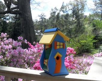 Dr. Seuss - style Whimsical Birdhouse