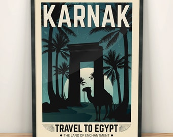 Egypt Vintage Travel Poster, Travel, Decoration, Wall Art, Printable Poster, Exotic