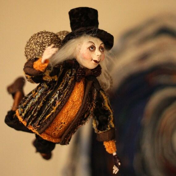 Art Doll| Halloween OOAK  Doll  | Halloween Doll  | Halloween Gift | Halloween decor | Halloween Home Decoration Doll | Housewarming  Gift |