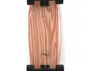 Handmade vintage inspired Red Oak cruiser skateboard