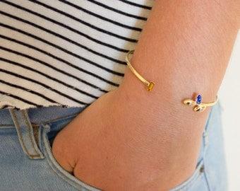 Gold bangle bracelet - simple gold bangle - dainty bracelet