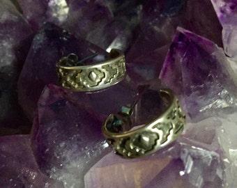 Detailed delicate little Silver Mexican Earrings