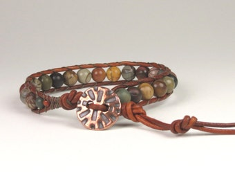 One wrap with Red Creek Jasper