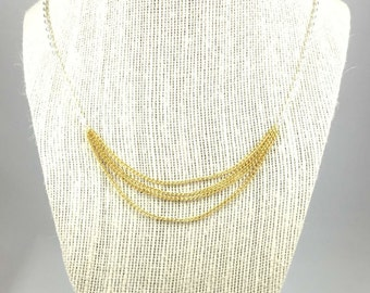 Layered Necklace, Mixed Metal Necklace, Chain Swag Necklace, 22854