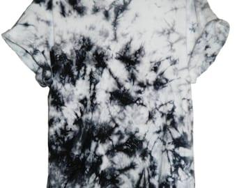 Tie Dye T-Shirt acid wash T-shirt hipster festival grunge Retro 80s 90s indie unisex rave skate black marble top