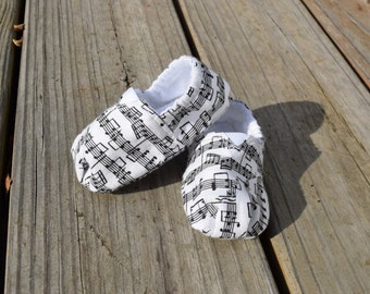Music Note Baby Shoes