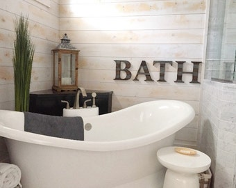 rustic bathroom decor wall letters bath bathroom wall decor bathroom sign rustic home decor bath letters rustic wall decor