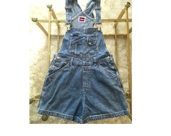 90s Denim Overall Shorts Size Small
