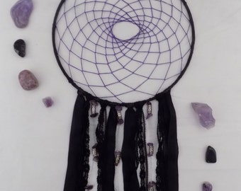 Black and Purple Dream Catcher
