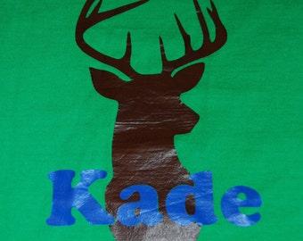 Deer t-shirt, boys t-shirt, custom boys tshirt, hunting tshirt for boys,