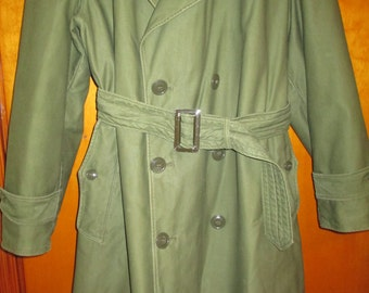 1950s US MILITARY COAT, Vintage Army Coat, Vintage Military Overcoat
