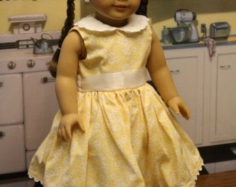 Yellow Spring Doll Dress
